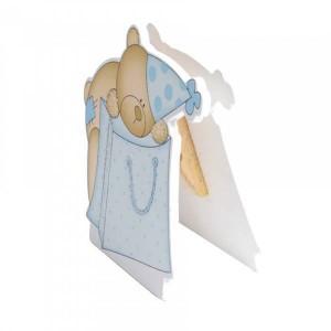 Porte carte ourson bleu