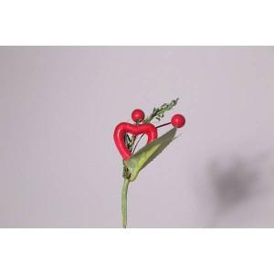 Piquet cœur rouge