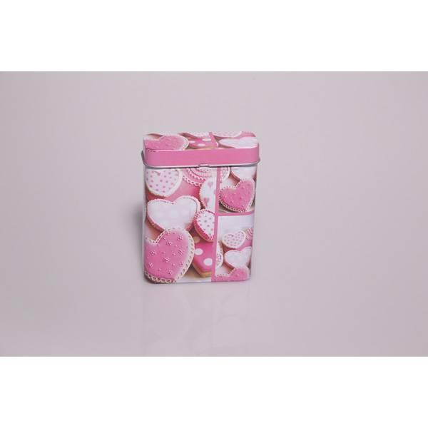 Boîte à biscuit rose
