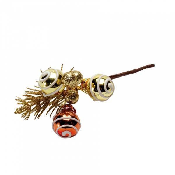 Piquet sapin boule or et bronze