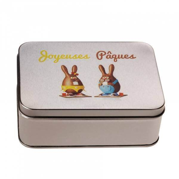 Boîte + imprimé lapin chocolat