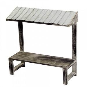 Présentoir échoppe toit en zinc