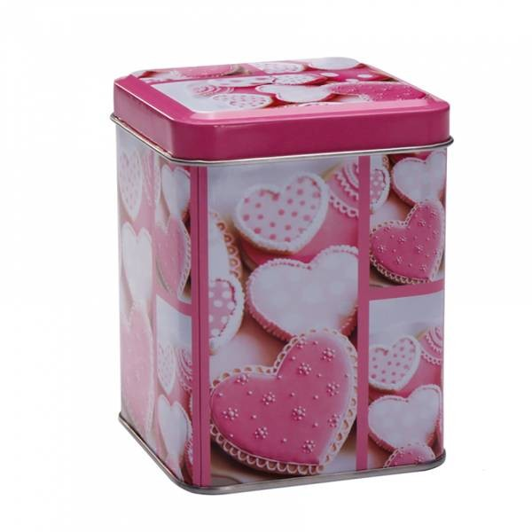 Boîte droit bonbons cœurs roses